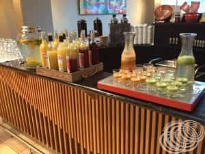 Juices at Rydges Capital Hill Canberra Breakfast Buffet