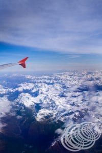 NZ's Southern Alps from the Sky