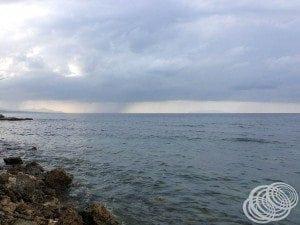 The Rain Coming in from the ocean at Honiara
