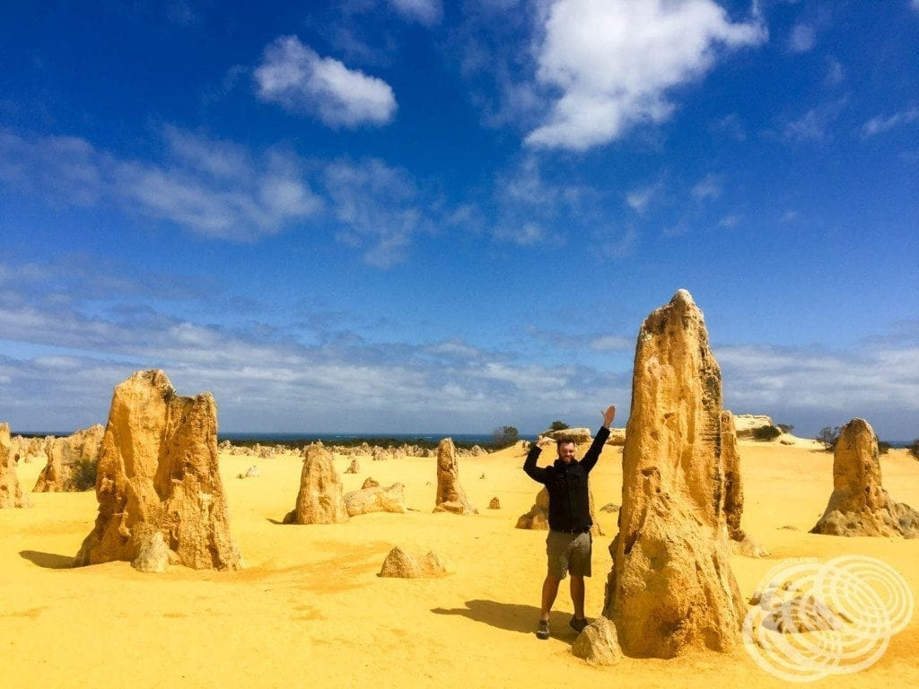 Matt at the Pinnacles - Cervantes, Western Australia