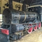 A steam locomotive at the Pine Creek Railway Museum