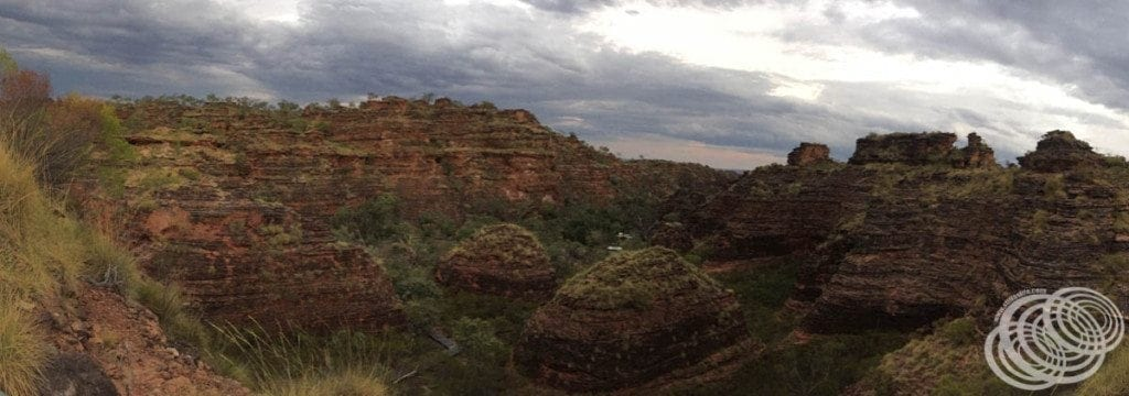 Panorama of the hive rock formations at Mirima National Park