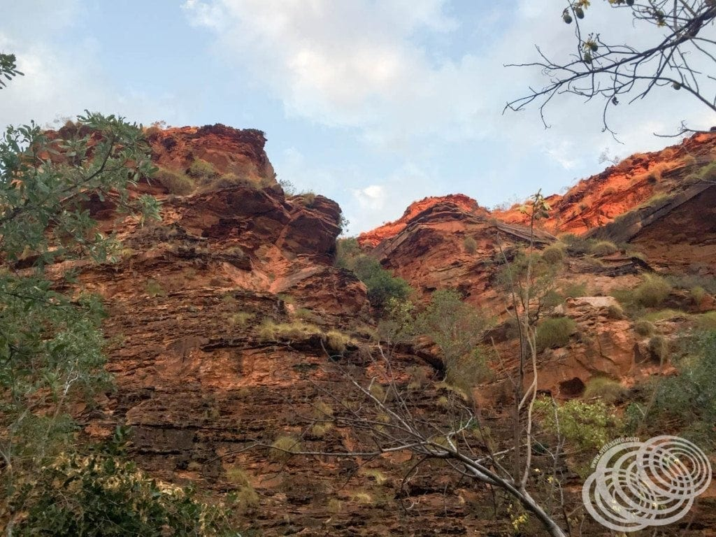 Some of the red rock formations at Mirima National Park