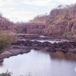 Walking between gorges 1 & 2 at Nitmiluk (Katherine) Gorge)