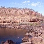 Looking towards the gorge 1 dock at Nitmiluk (Katherine) Gorge