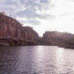 Cruising the first gorge during sunrise at Nitmiluk (Katherine)