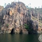 Cliff formations along the banks of Nitmiluk (Katherine) Gorge