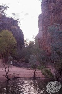 A crocodile nesting area in the second gorge at Nitmiluk (Katherine) gorge.