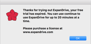 ExpanDrive Trial Expired