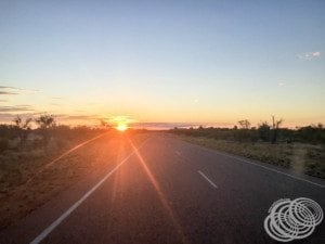 Sunset on the way into Fitzroy Crossing