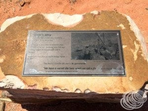 Streeters Jetty Plaque