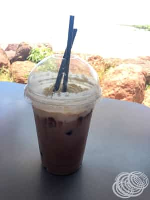 Our iced chocolate from the Derby Jetty Cafe