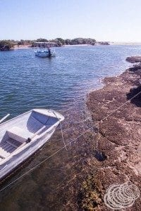 The gorge tour boat at Yardie Creek Jetty