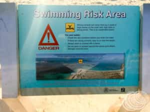 Drift is a swimming risk area