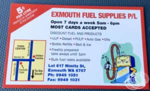 Exmouth Fuel Supplies 5c/L Off