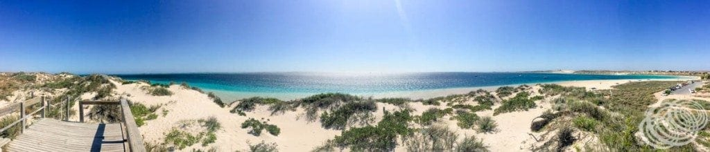 Ningaloo Reef from the Coral Bay Lookout.