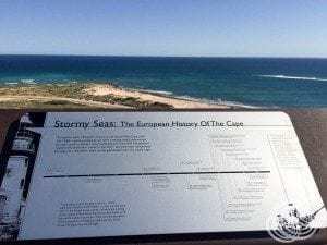Some of the coastline information at Vlaming Head Lighthouse