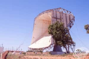 An unusually shaped dish at Carnarvon Tracking Station