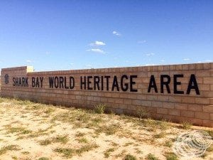 Now entering Shark Bay World Heritage Area