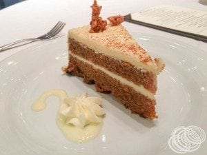 Royal Caribbean Mojo Menu - Carrot Cake