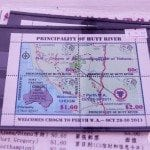Principality of Hutt River stamp sheet