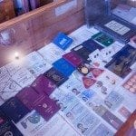Prince Leonard's collection of passports from all over the world