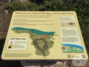 Natural Bridge and Castle Cove Map