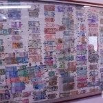 Half of Hutt River Provinces collection of foreign banknotes