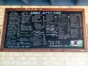 Jurien Jetty Cafe Menu