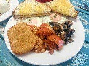 My vegetarian big breakfast