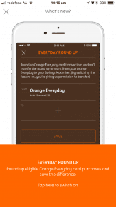 In-app notification about the new ING Everyday Round Up