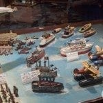 Tin toy ship collection