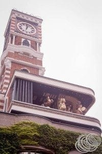 The dancing animals in the clock tower
