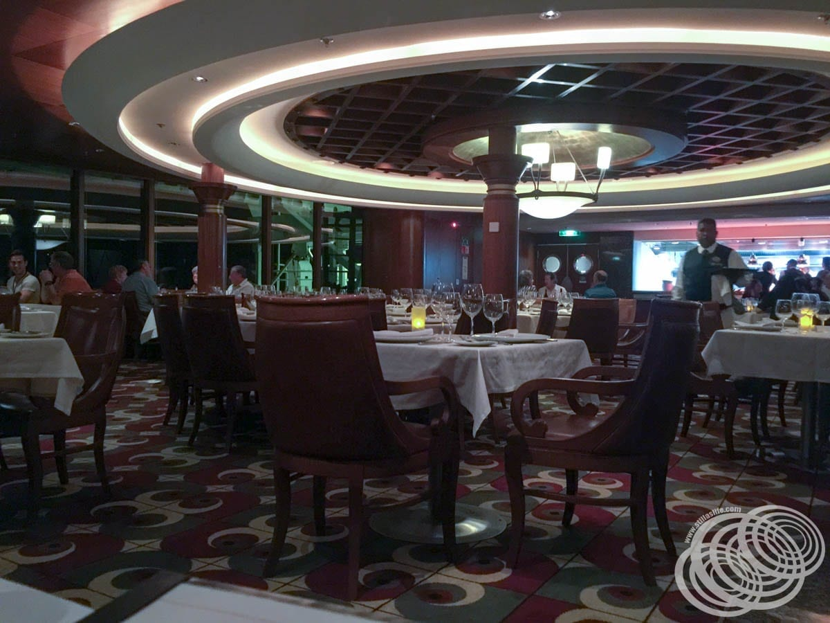 Chops Grille at Night on Radiance of the Seas