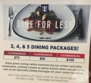 Royal Caribbean Dining Packages