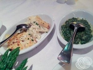 Scalloped Potatoes and Creamed Spinach