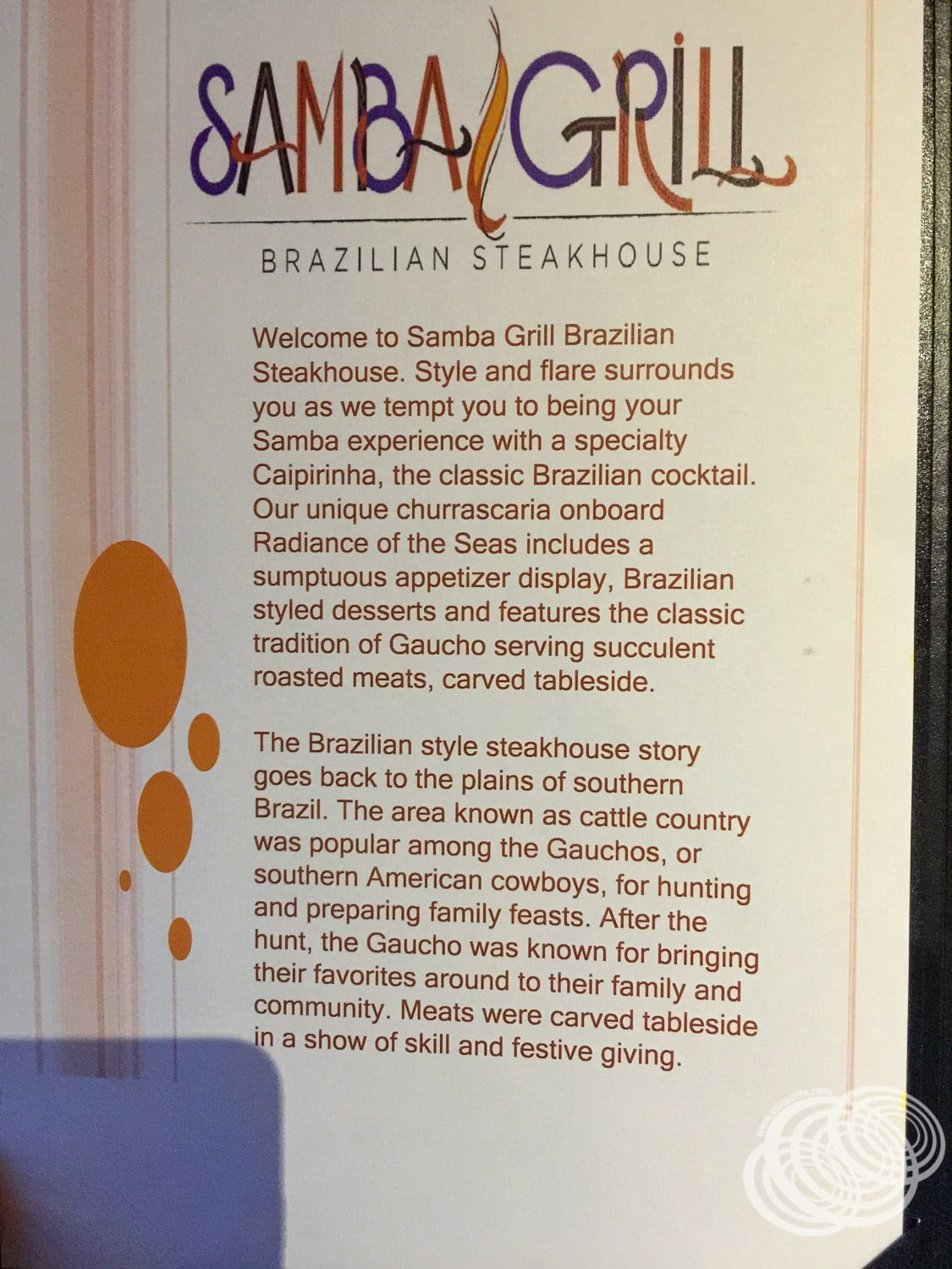 About Samba Grill - From the men