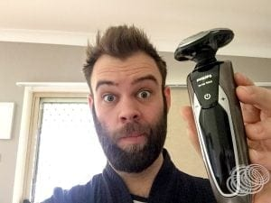 Matt with Philips Shaver