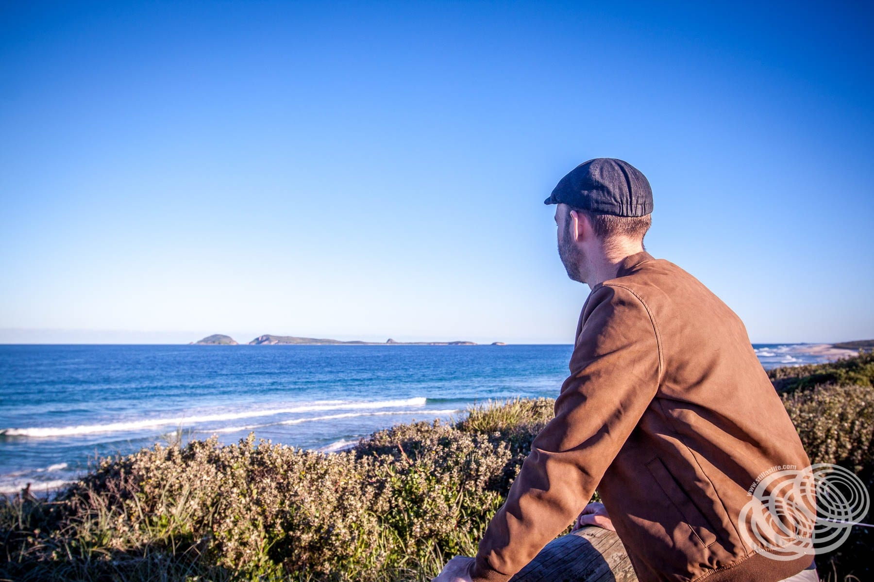 Matt Looking To Broughton Island from Myall National Park.