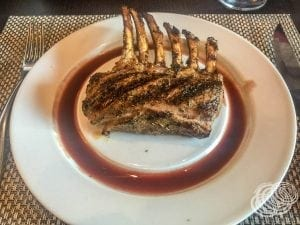 Lamb Rack at Chops Grille on Explorer of the Seas
