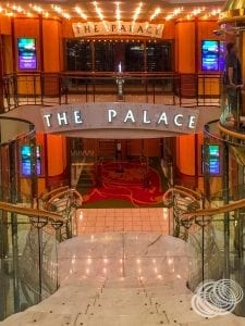 Outside the Palace Theatre on Explorer of the Seas