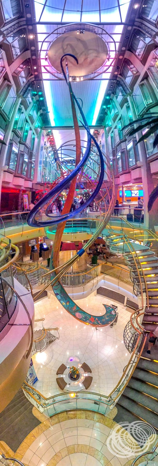 The Royal Promenade on Explorer of the Seas