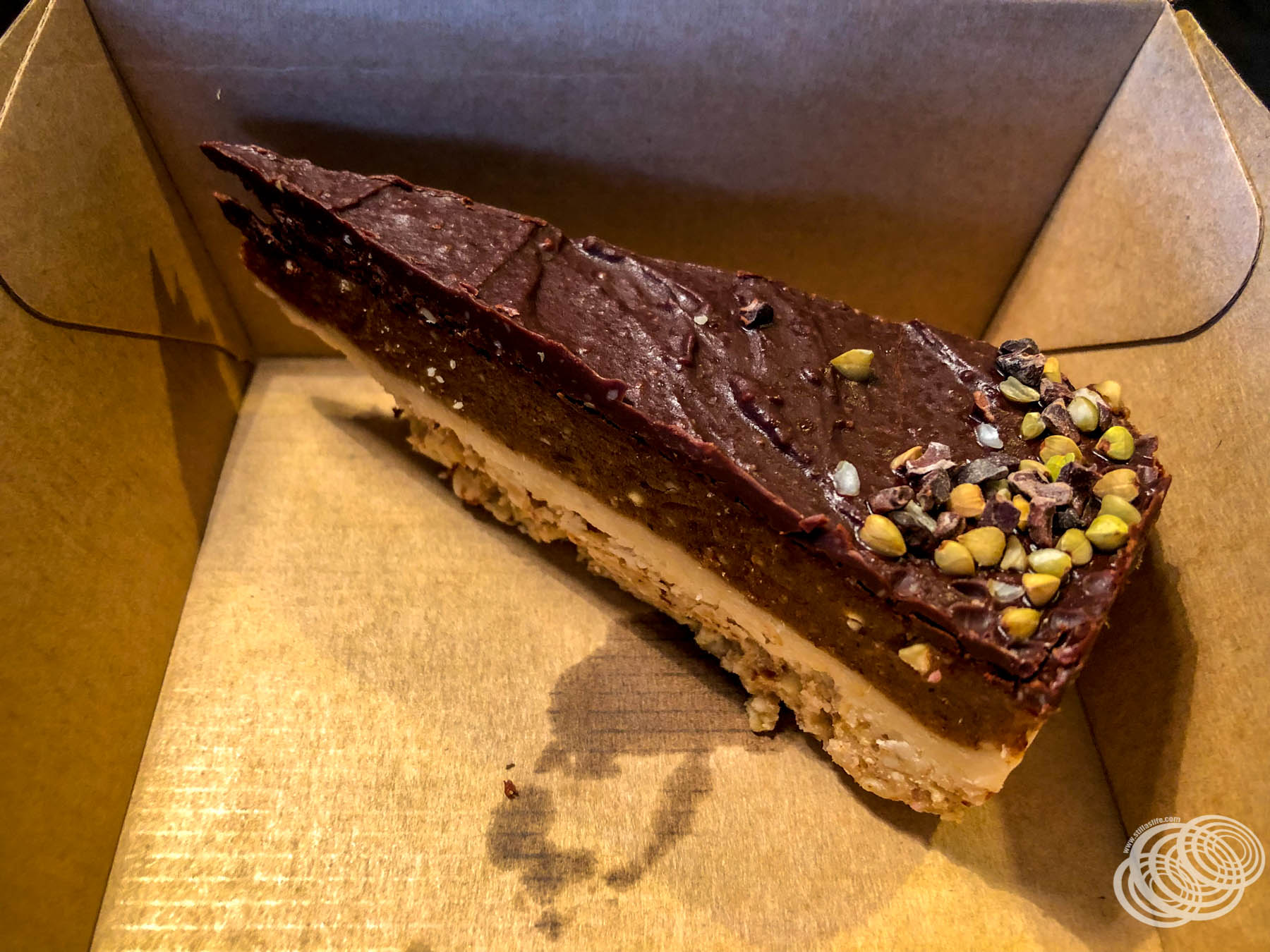 Vegan Almond Gaytime Slice