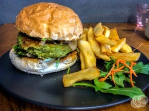 The Chill'd Cafe Vegan Burger