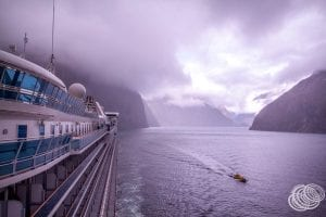 Golden Princess Cruising in Milford Sound