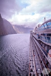 Golden Princess in Milford Sound