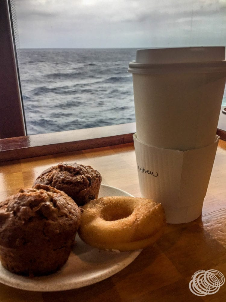 Barista coffee on Radiance of the Seas
