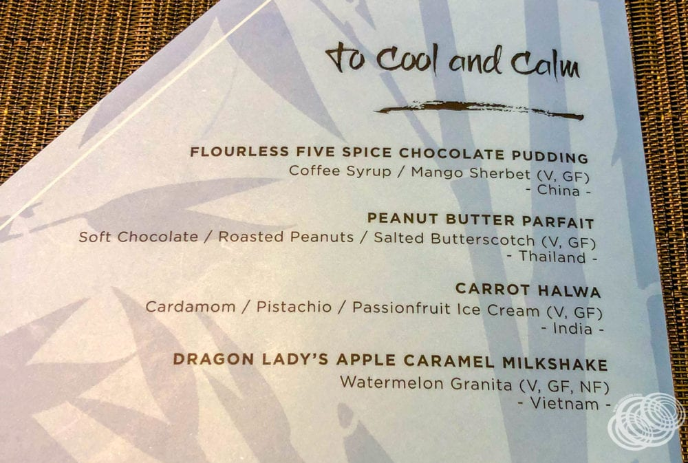 Dragon Lady Restaurant Dessert Menu