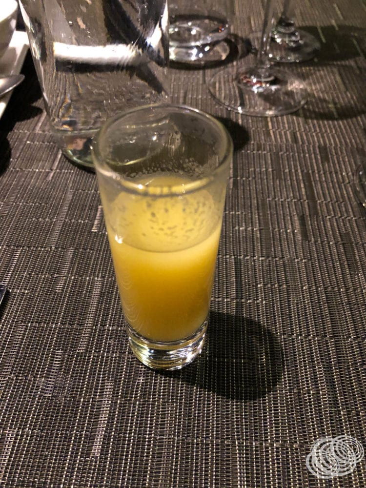 Pear Orange and Ginger Shots at the Dragon Lady on P&O Pacific Explorer
