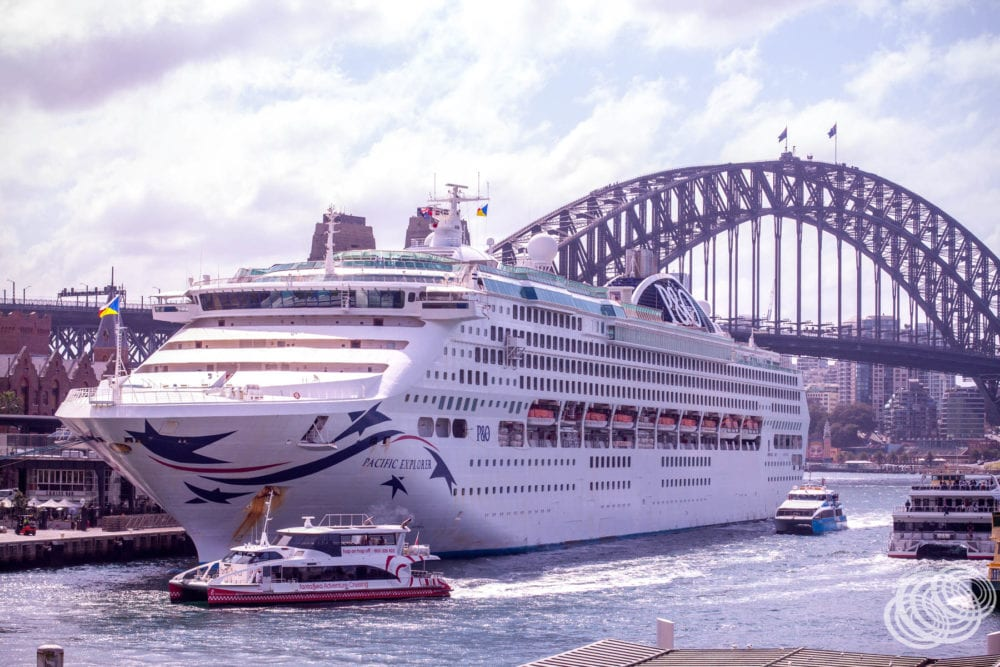 P&O Pacific Explorer docked in Sydney